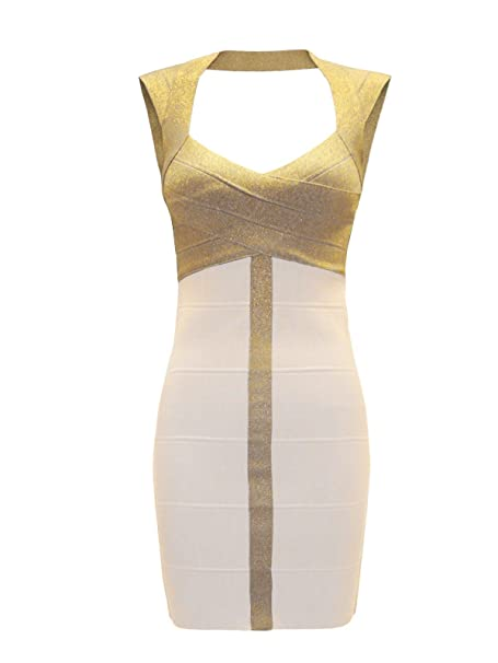 Chaos Theory Outlet - Vestido - para mujer multicolor White / Gold