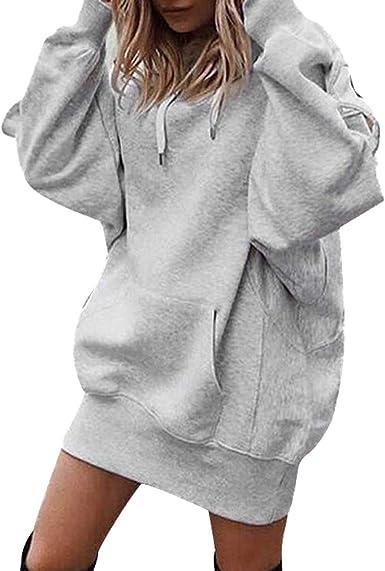 Mode Sweats à Capuche FemmeHoodie Sport Sweat Shirts Robe