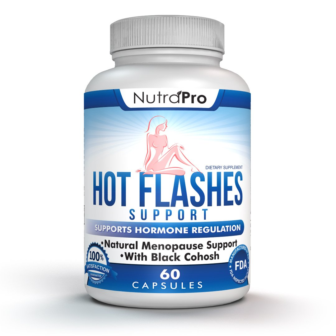Hot Flashes Menopause Relief and Hormonal Balance – Natural Hormone Balance for Mood Swing,Vaginal Dryness,Decreased Libido and Hot Flash Relief-GMP Certified Facility-with Black Cohose-60 Capsules