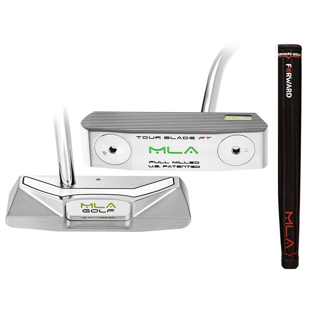 MLAゴルフツアーブレードF & Tパター2018右ステンレススチールW / Forward Midsizeレッドグリップ34   B0792J5VCQ