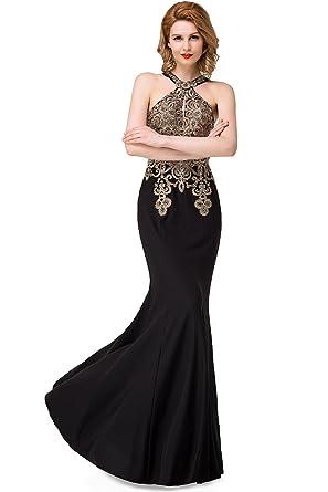 Crystal Long Floor-Length Scoop Chiffon Elegant Prom