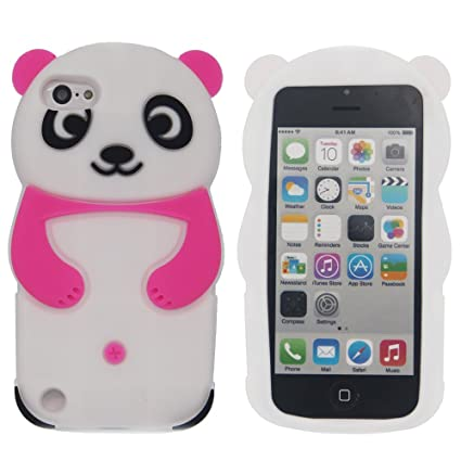 official photos 74f49 2fbc9 iPod Touch 5 Case,iPod Touch 6 Case - Tsmine Cute Cartoon 3D Panda Soft  Silicone Back Washable Cover Shockproof Protective Skin for Apple iPod  Touch ...