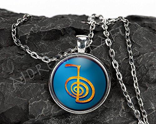 Reiki Symbols: Choku Rei (Power) - Inspirational Customizable Pendant Necklaces and Key chains - 1