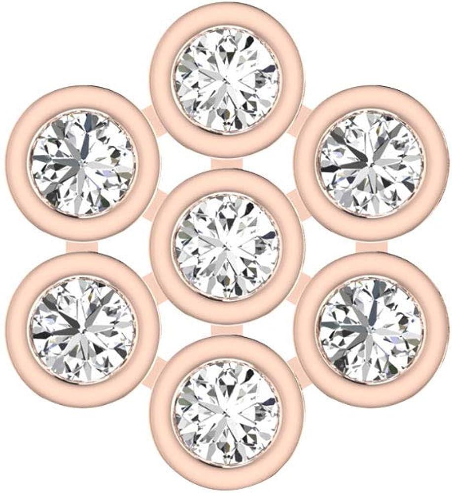 Juego de bisel con certificado IGI, pendientes de flor de diamante, IJ-SI, pendientes de oro con diamantes, para bodas, novias, aniversarios, regalo de cumpleaños para madre, tornillo hacia atrás
