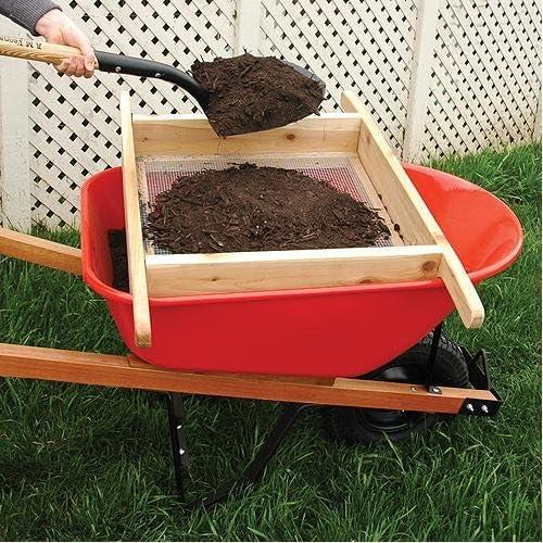 Criba de compost y tierra para carretilla, hecha a mano: Amazon.es: Jardín