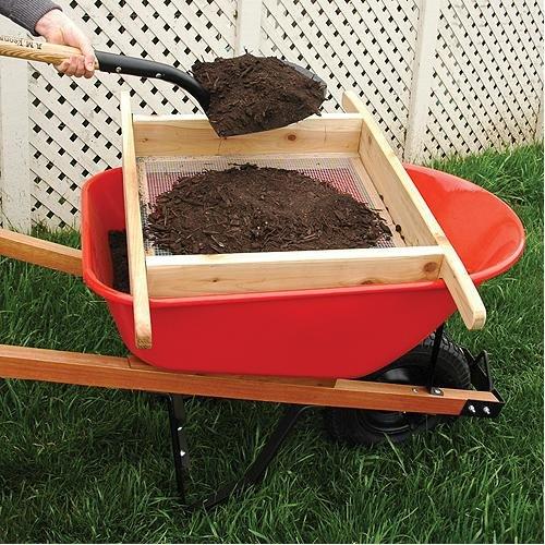 A.M. Leonard Wheelbarrow Sifter for Compost and Soil, Handmade by A.M. Leonard