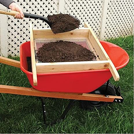 wheelbarrow sifter for compost and soil handmade