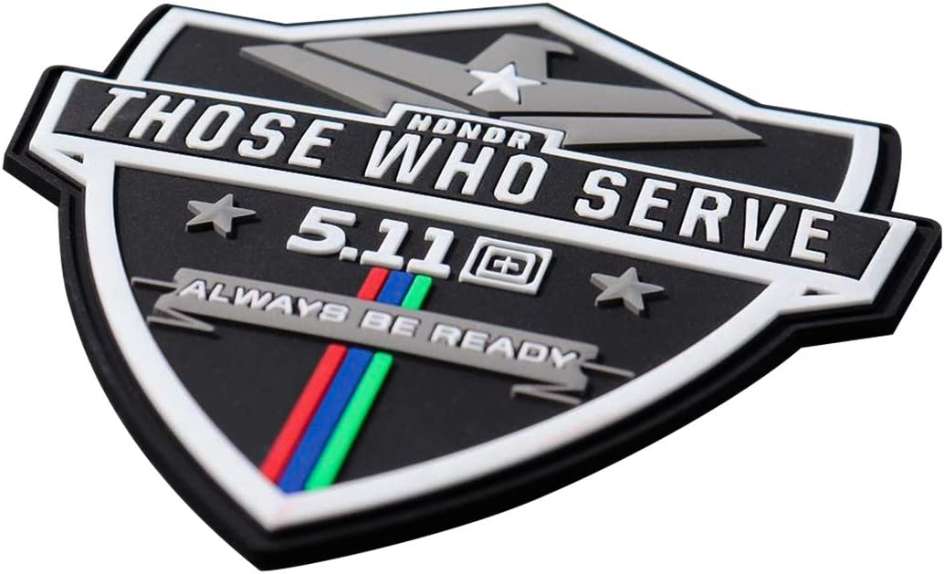 10 x 8 cm 5.11 Honor Those Who Serve Always Be Ready 3D PVC Rubber Morale Patch velcro ca