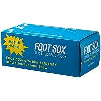 Foot Sox Original Sanitary Disposable Try on Socks (Mens Black)