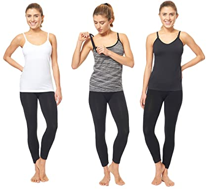10113d16b98 3 Pack - Nursing Cami Tank Top with Build-in Maternity Bra Pregnant ...