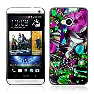 YOYOSHOP [Colorful Flower Abstract Illustration] HTC One M7 Case