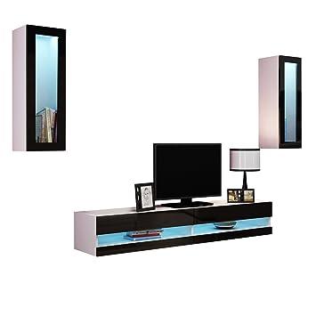 Wohnwand Vigo New XI, Anbauwand, Design Mediawand, Farbauswahl, Modernes Wohnzimmer  Set,