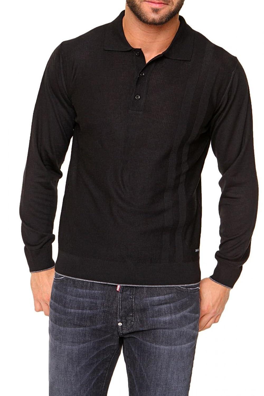 Cortigiani Polo Neck Pullover VINCENZO, Color: Black