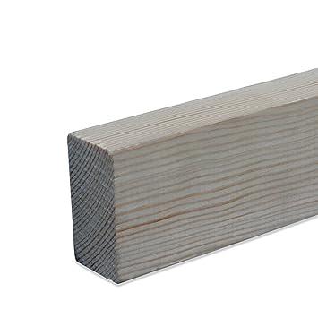 Quadratleiste Bastelleiste Abschlussleiste Abdeckleiste aus unbehandeltem Kiefer-Massivholz 900 x 18 x 18 mm