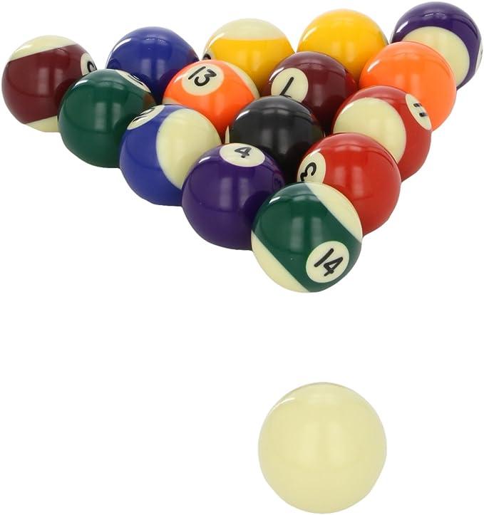 POWERGLIDE - Bolas de Billar (48 mm, 16 Unidades), Colores Variados: Amazon.es: Deportes y aire libre