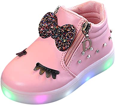 Cloudro Baby Light Sneaker Mesh Shoes,Toddler Breathable Led Shoes for Boy Girl