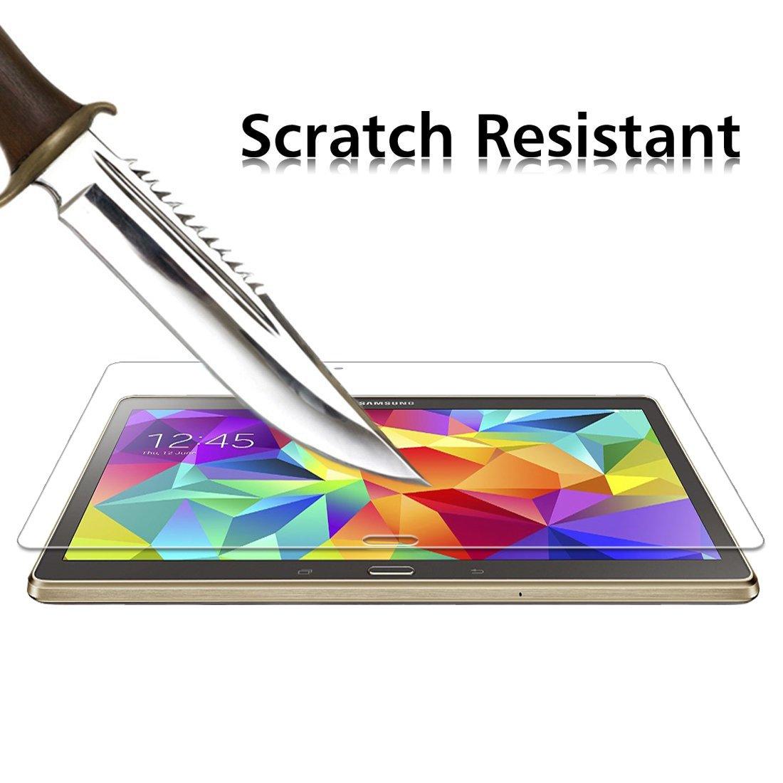 iVoler Protector de Pantalla Compatible con Samsung Galaxy Tab S 10.5 Pulgadas Cristal Vidrio Templado Premium Dureza 9H Sin Burbujas Anti-Ara/ñazos SM-T800//SM-T805
