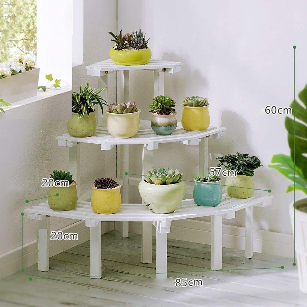 Mensola per fiori in legno massello. Pavimento per balconi (colore   Bianca, dimensioni   3 layers)