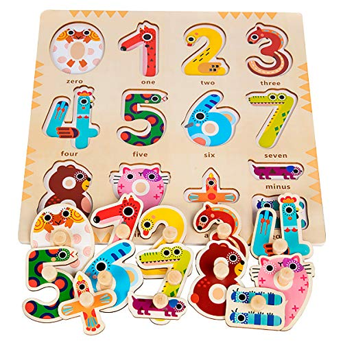 Wooden Puzzles for Toddlers 1 2 3 Year Olds - Kids and ...