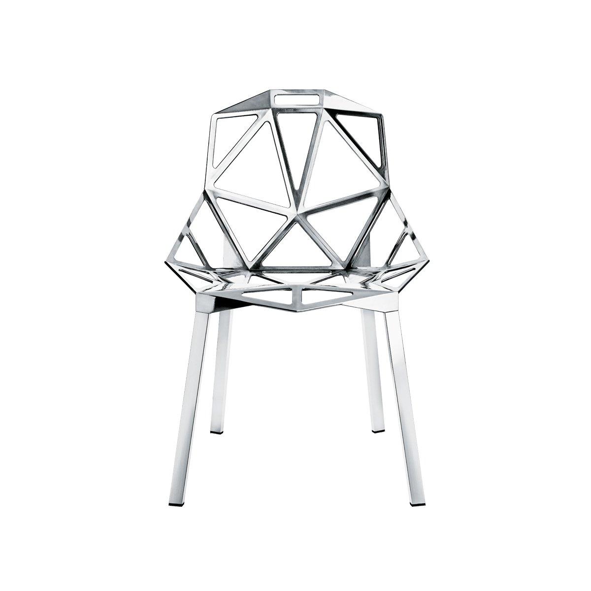 Magis Chair One Stuhl Stapelbar, aluminium poliert Beine aus Profilaluminium poliert nur für den Innenbereich geeignet!