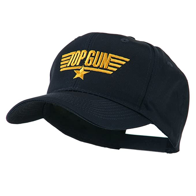 ee2eda66aa2 US Navy Top Gun Logo Embroidered Cap - Navy OSFM  Amazon.in ...