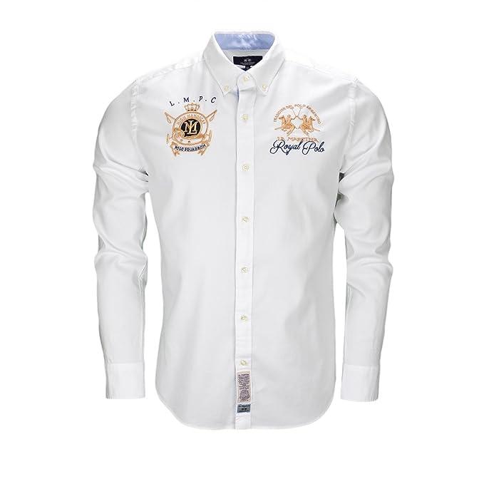 La Martina - Camisa casual - Blusa - para hombre blanco XL ...