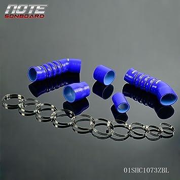 Abrazaderas para manguera de silicona Turbo Intercooler Kit para Audi TT (8J) 2.0 TFSI azul: Amazon.es: Coche y moto