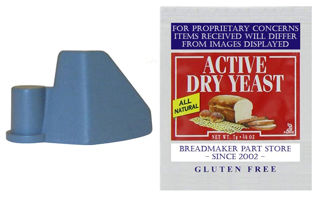 New Kneading Paddle Fits Oster Model # 5838 ExpressBake Horizontal 2-Lb Loaf Automatic Breadmaker FITS 3-RIVET BAKING PAN - SEE IMAGE 2 Bread Maker Machine Part Mixing Blade [Kneader/Yeast Bundle]
