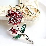 Amazon.com: Rosas Llavero Llavero espumoso flor vidrio ...