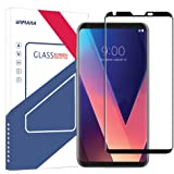 LG V30 Screen Protector (Case Friendly), Wimaha 1 Pack 3D Curved Tempered Glass Screen Protector for LG V30 Full Coverage / Bubble Free / Scratch Resistant / Ultra Clear