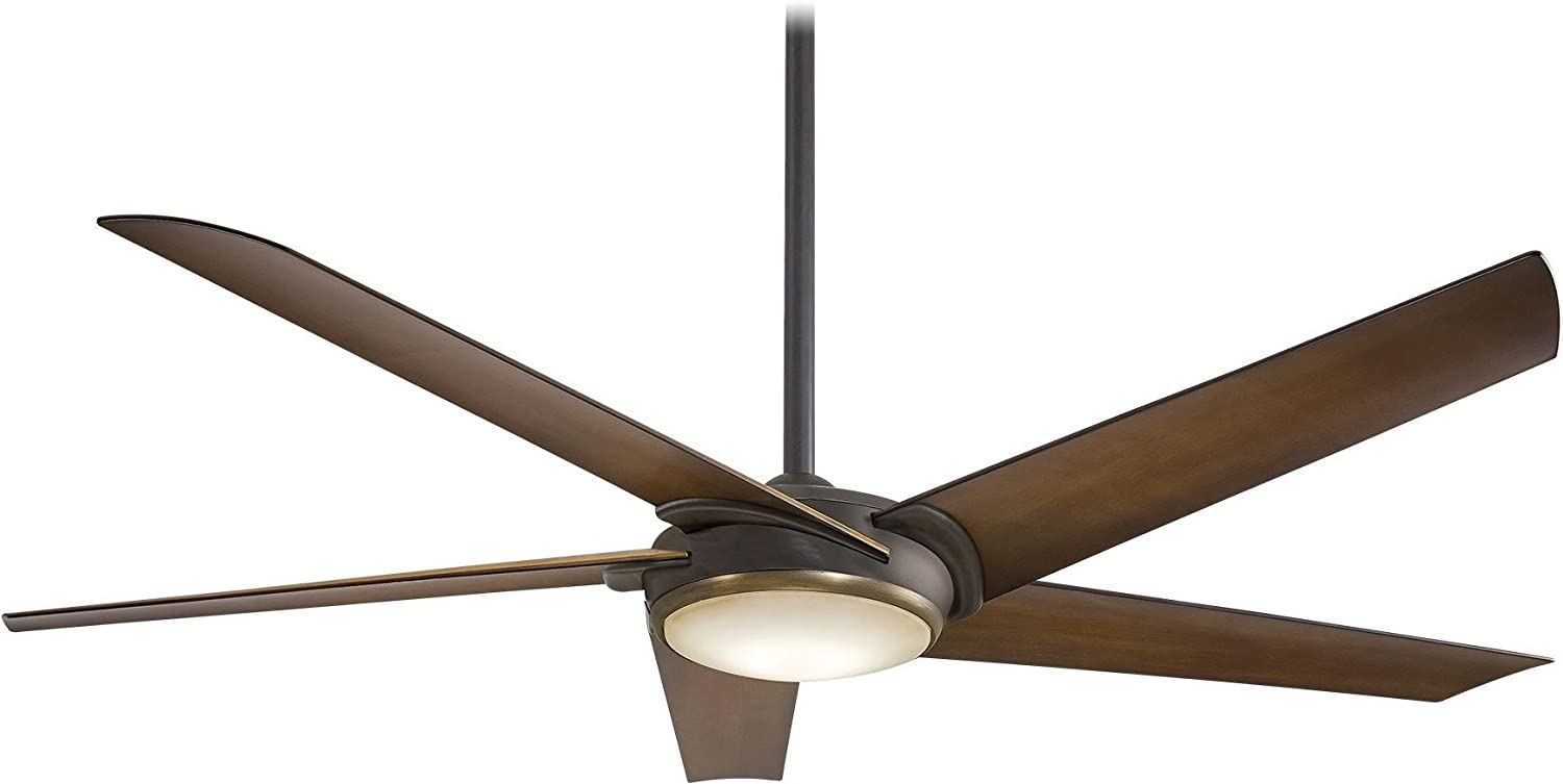 """Minka-Aire F617L-ORB/AB Raptor LED 60"""" Ceiling Fan with Remote Control, Oil Rubbed Bronze"""