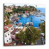 3dRose Danita Delimont - Cities - Turkey, Antalya, Southwest Mediterranean coast with Taurus Mountains. - 10x10 Wall Clock (dpp_277008_1)