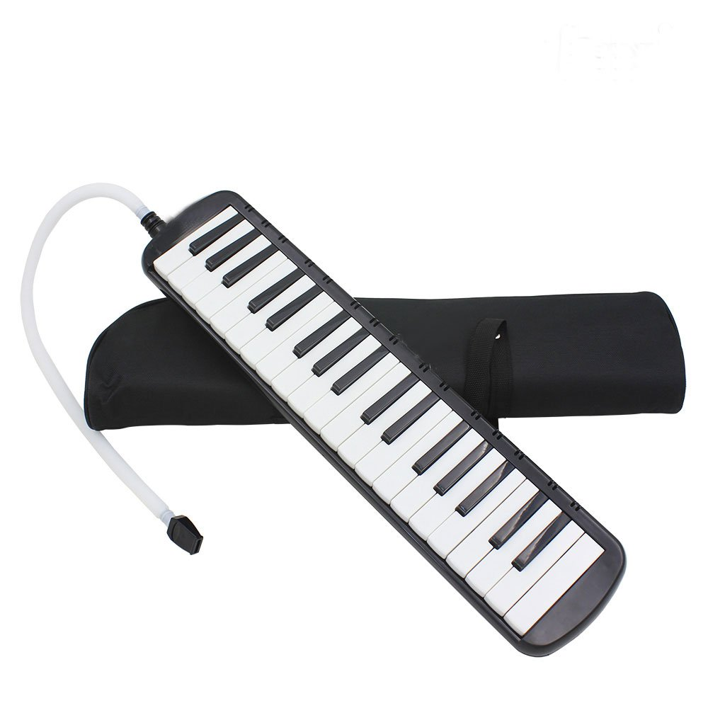 Glarry 37-Key Melodica with Mouthpiece & Hose & Bag Black by funning (Image #2)