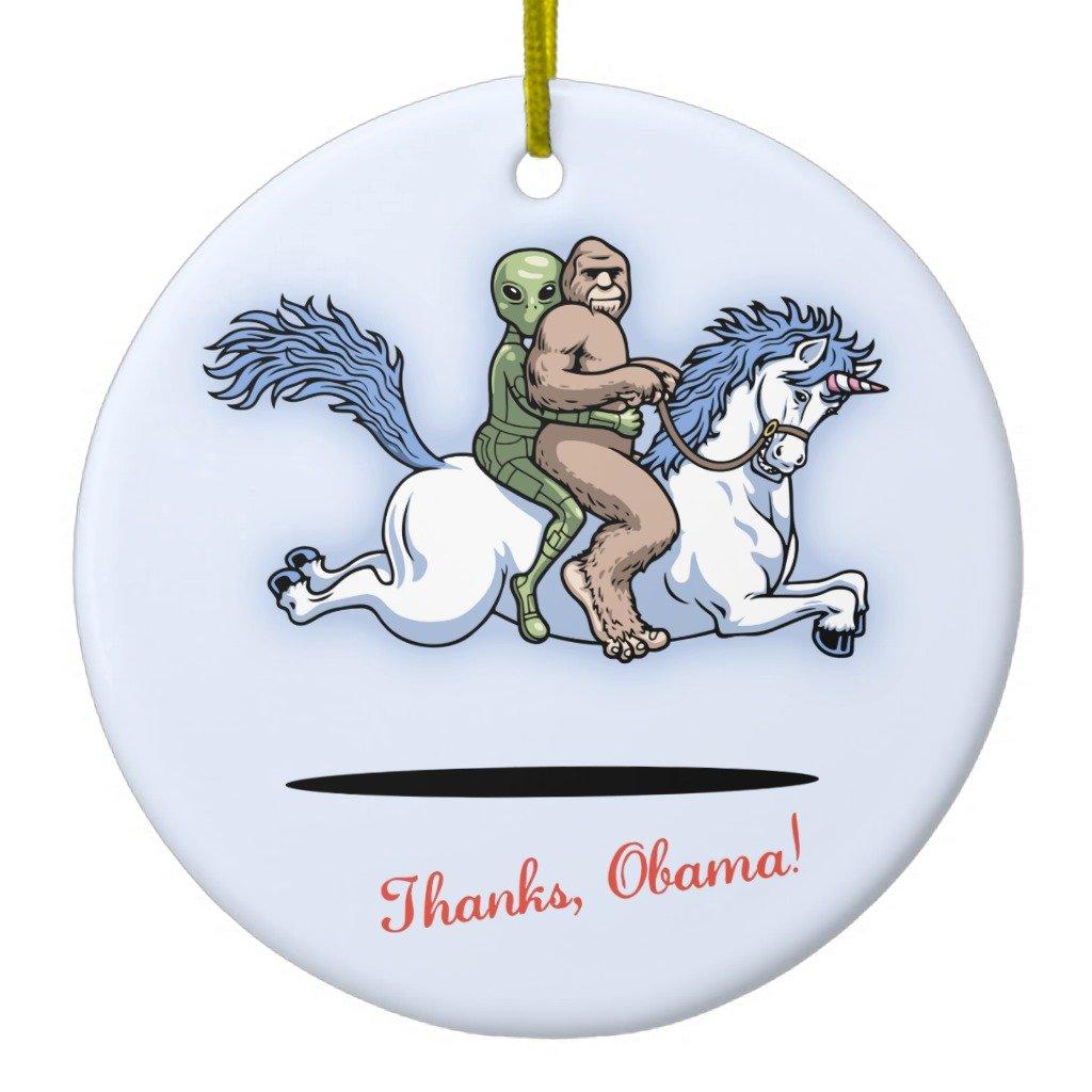 Amazon.com: Zazzle Thanks, Obama! Ceramic Ornament Heart: Home & Kitchen