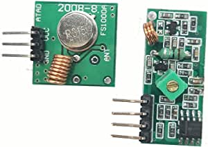HiLetgo 315Mhz Rf Transmitter And Receiver Module Link Kit For Arduino/Arm/Mcu/Raspberry Pi