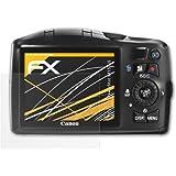 Canon PowerShot SX150 IS Displayschutzfolie - 3 x atFoliX FX-Antireflex blendfreie Folie Schutzfolie