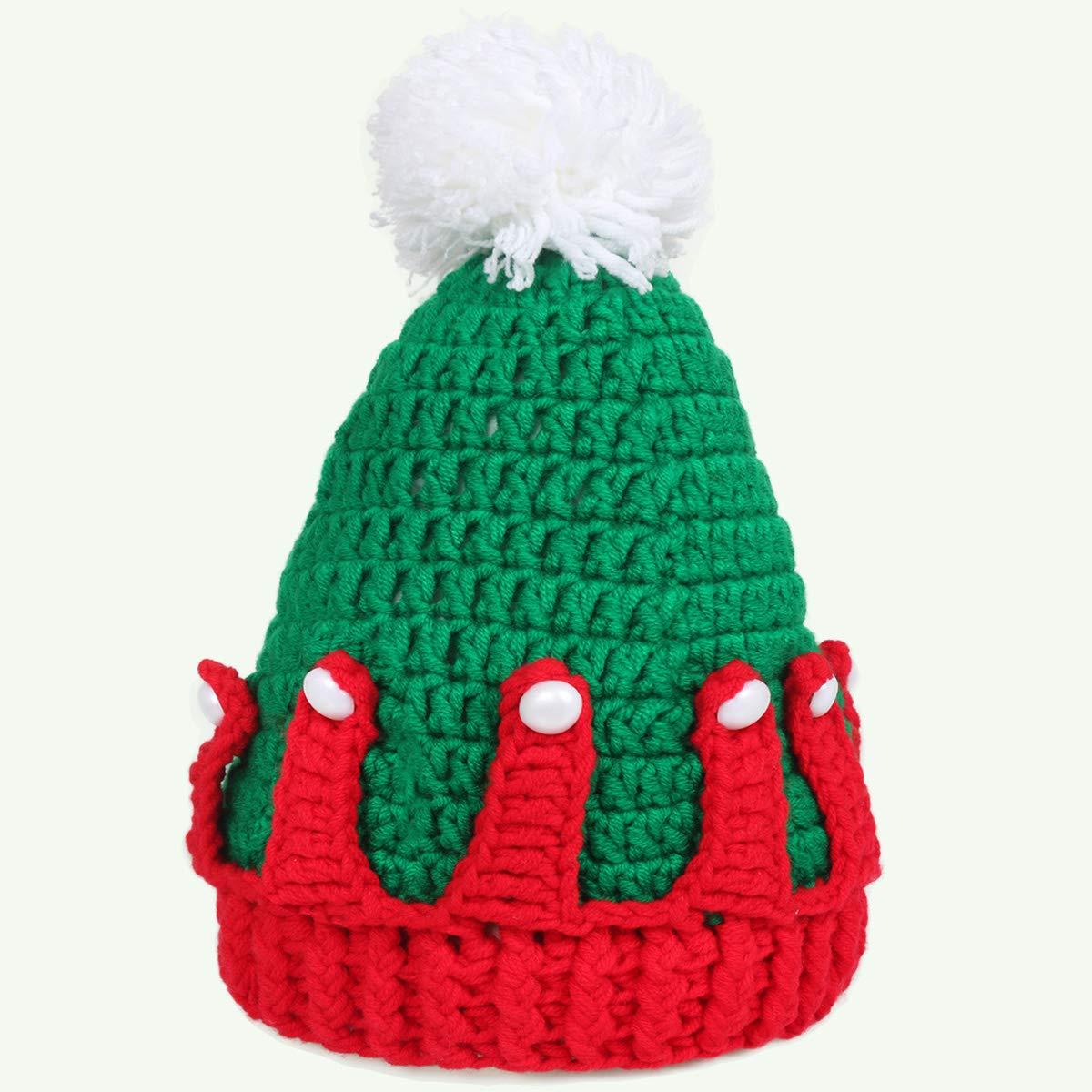 b71c230c173 Amazon.com  Ypser Baby Thanksgiving Christmas Beanie Turkey Knitted Cap Elk  Hat Photo Prop  Clothing
