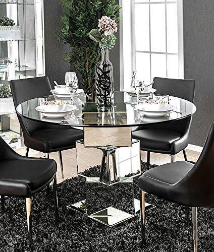 Izzy Furniture of America - Mesa de Comedor (Cristal, Metal ...