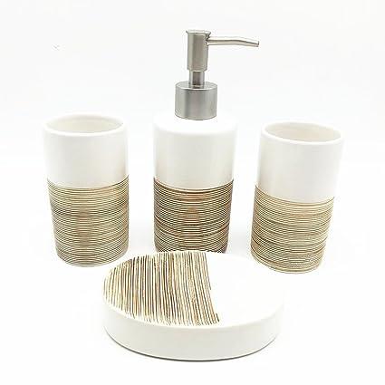Amazon Com Haosensix 5pc Bath Accessory Sets Decorative Lotion