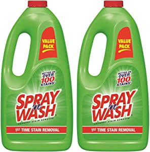 Spray 'n Wash Pre-Treat Laundry Stain Remover Refill, 60 fl oz Bottle (Pack of 2)