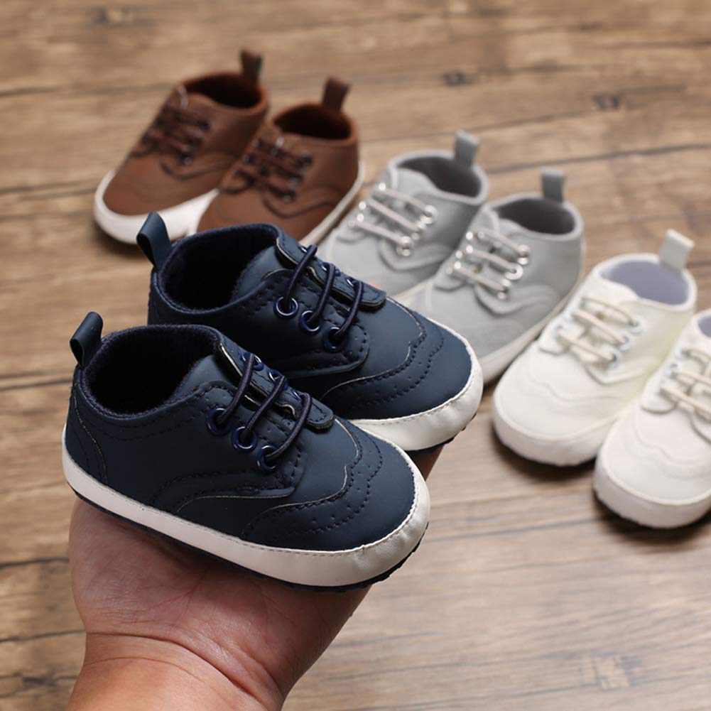 Infant Baby Boys Girls Non-Slip Sole Sneakers Outdoor Walking Shoes Toddler First Walkers Crib Shoes