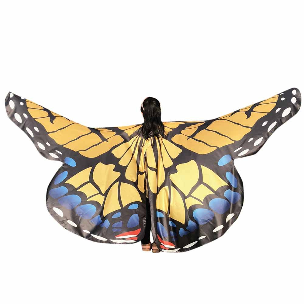 Kids Baby Girl Belly Dancing Costume Butterfly Wings Dance Accessories No Sticks