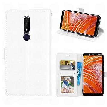 Laybomo Funda Nokia 3.1 Plus Carcasa Fundas Cuero Carcasa ...