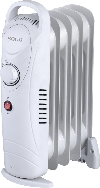 Sogo CAL-SS-18212 Mini radiador de Aceite eléctrico, 5 Elementos, 650 W, Blanco: Amazon.es: Hogar