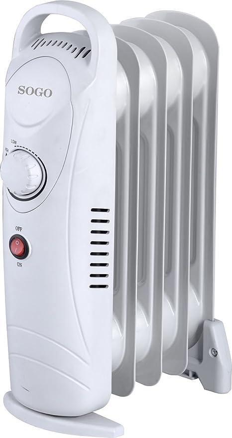 Sogo CAL-SS-18212 Mini radiador de Aceite eléctrico, 5 Elementos, 650