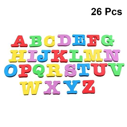 Toyvian Nevera magnética Letras y Números Alfabeto Imanes de ...