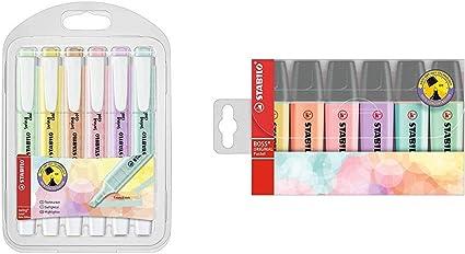 Marcador pastel STABILO swing cool Estuche con 6 colores + STABILO ...
