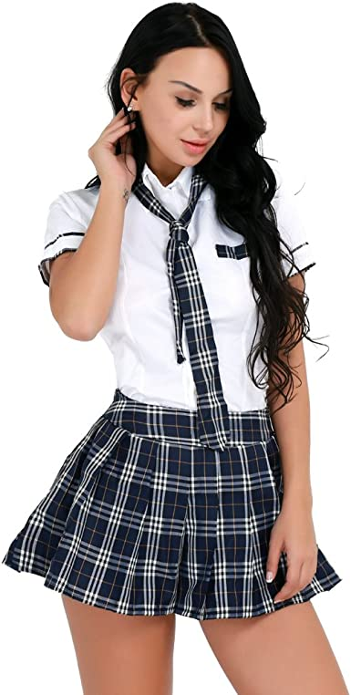 3Pcs Adult Sailor Cosplay Fancy Costume Women School Girl Cosplay Uniform Outfit