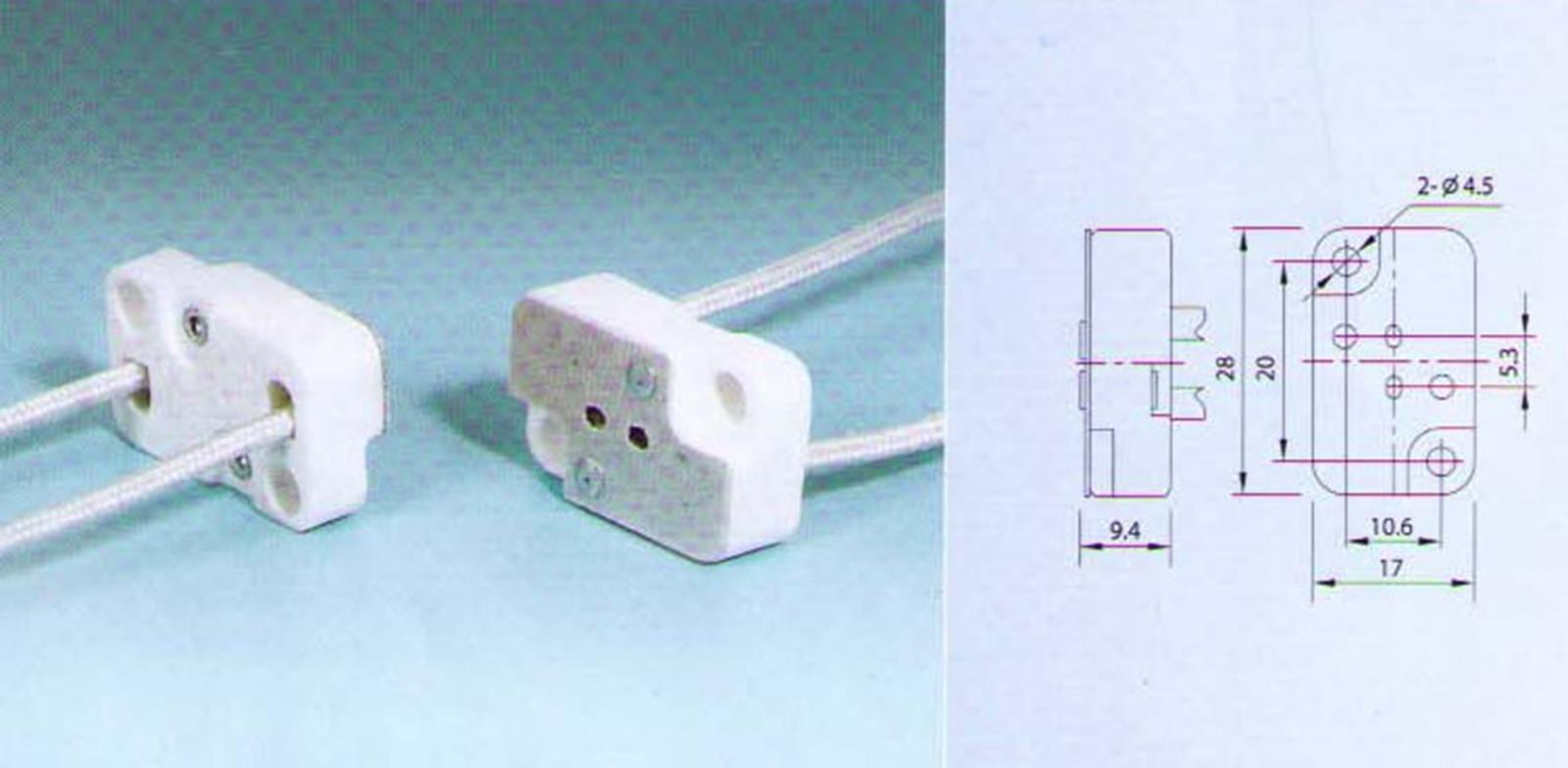 4 Qty. Divine Lighting Square Multi-base Socket Lamp Holder G5.3 GX5.3 G6.35 GX6.35 Works With : ELC; BRL; 64514; EHJ; etc.