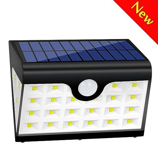 74 opinioni per Lampade Solari 3 Modalità,300 LM Illuminazione Giardino Solare,Luce Solare 28